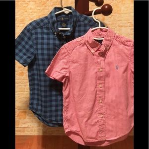 Ralph Lauren Set Of 2 Button Up Polos 4T EUC